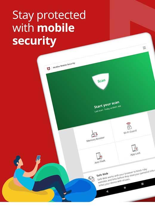 Phần mềm chống trộm điện thoại McAfee Mobile Security