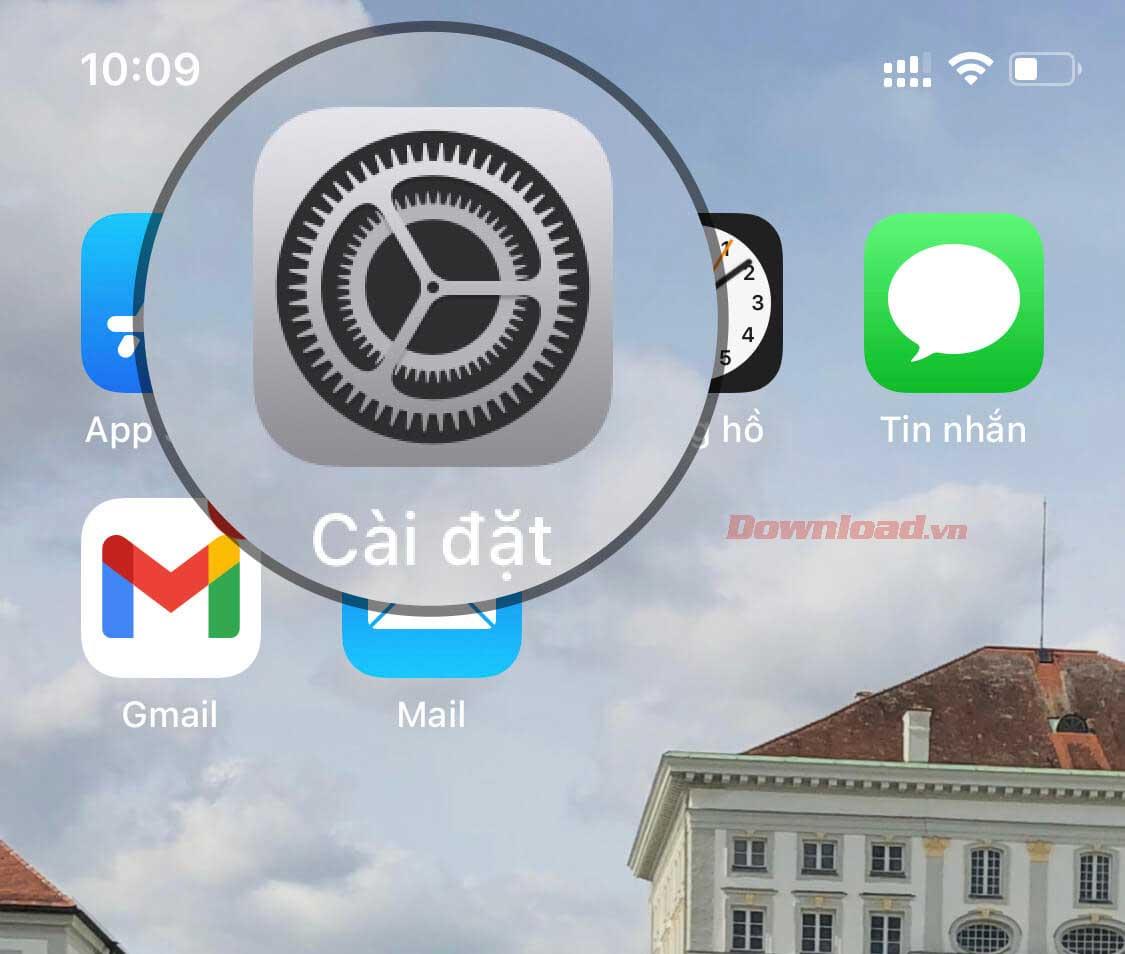 Settings trên iPhone