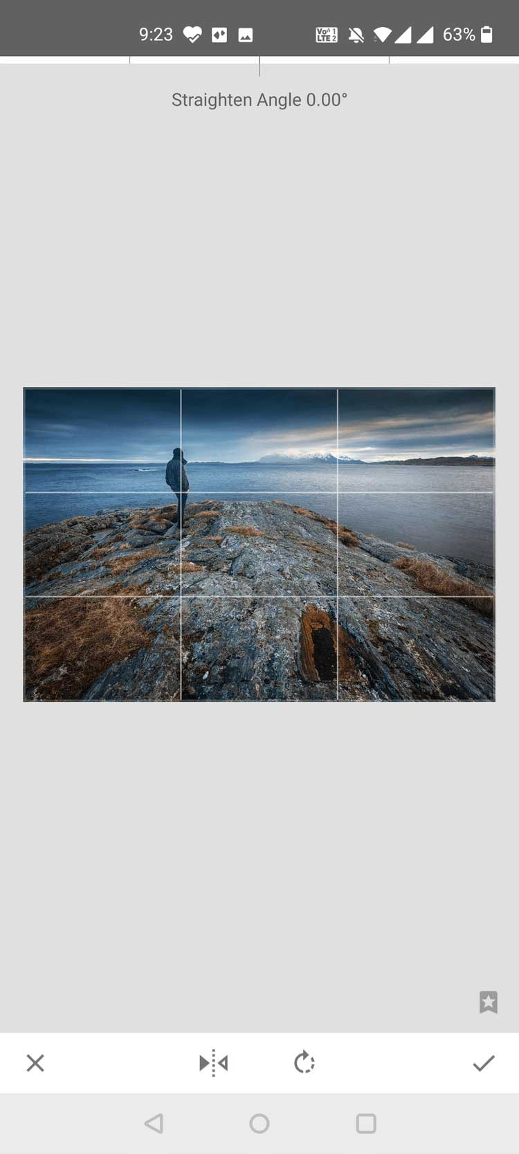 Lật ảnh bằng Snapseed trên Android