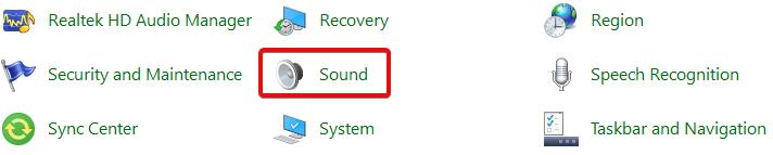 Chọn Sound