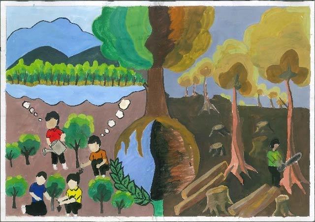 Ước mong sẽ trồng nên rừng cây thật lớn cho quê hương