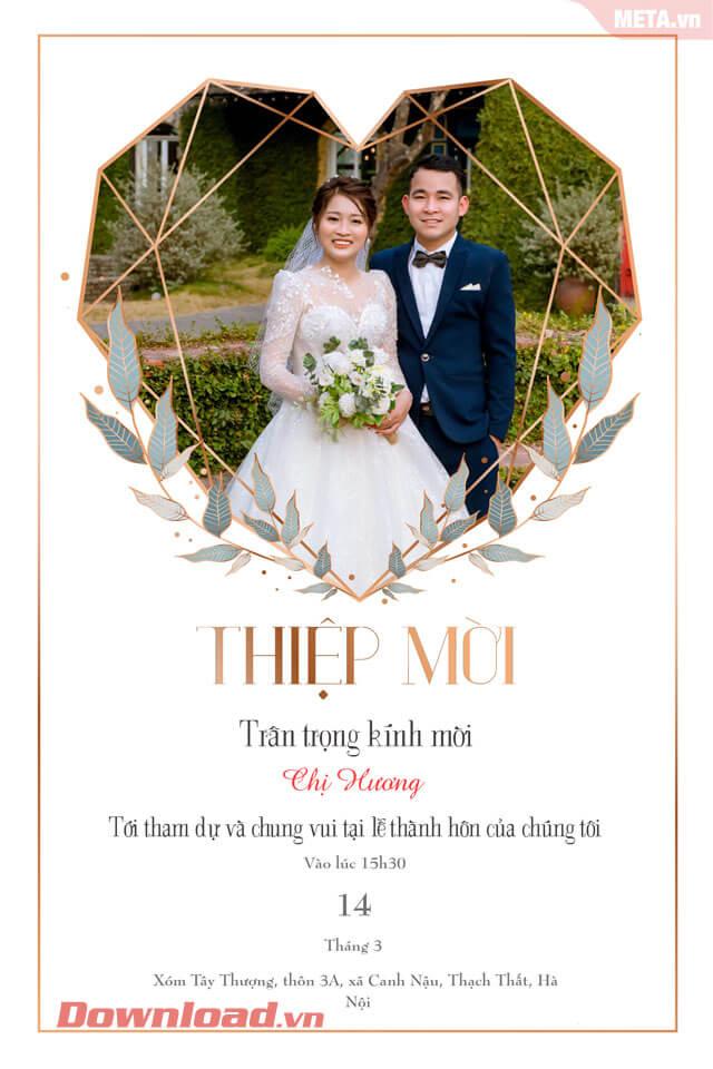 Thiệp mời cưới tạo trên di động