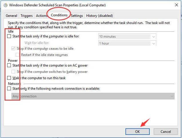 Thay đổi lịch hoạt động của Windows Defender