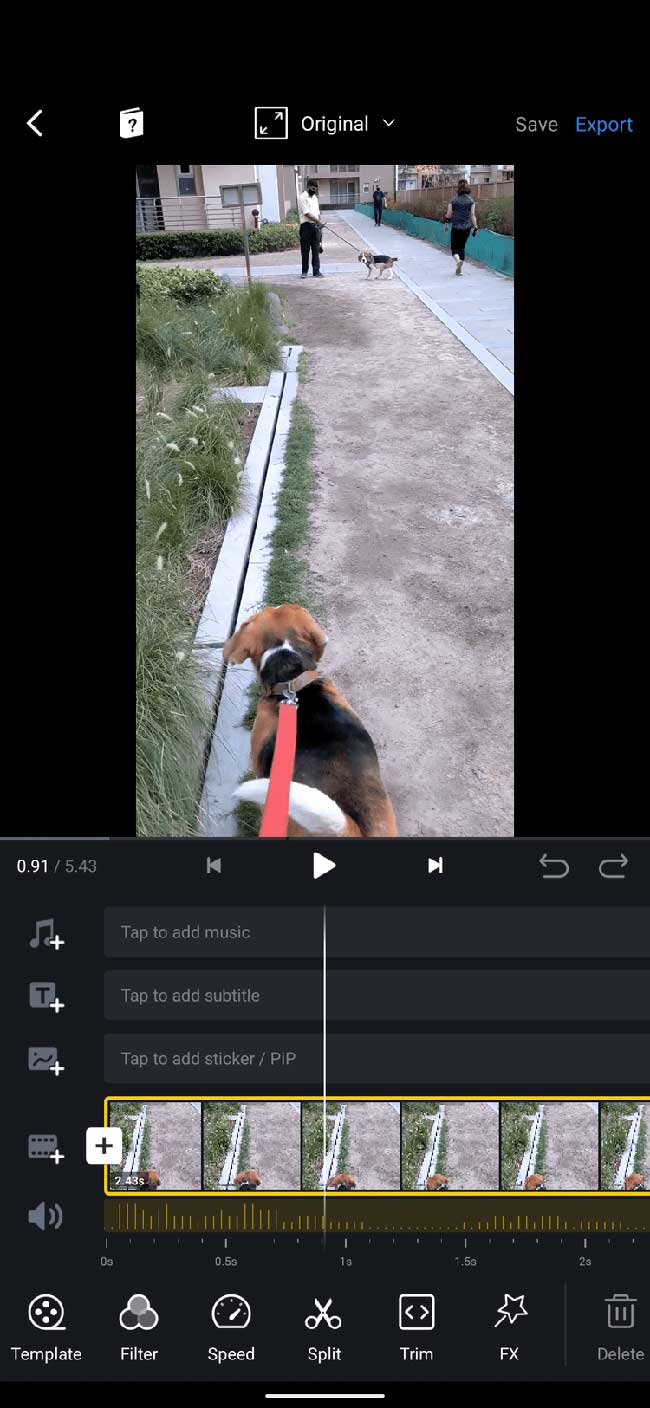 Giao diện VN Video Editor