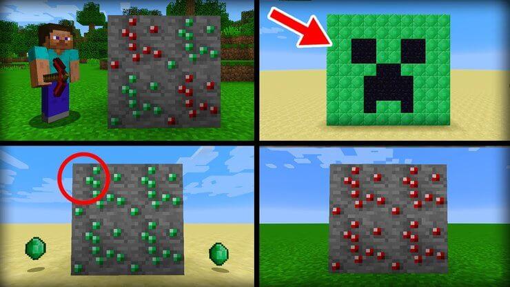 Đổi tên đá hồng ngọc trong Minecraft