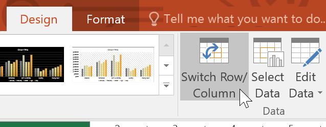Chuyển hàng và cột trong PowerPoint