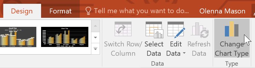 Thay đổi kiểu biểu đồ trong PowerPoint