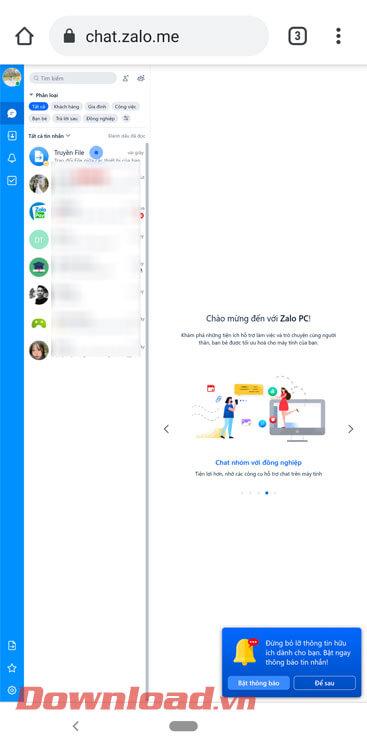 Bắt đầu dùng Zalo trên điện thoại 2