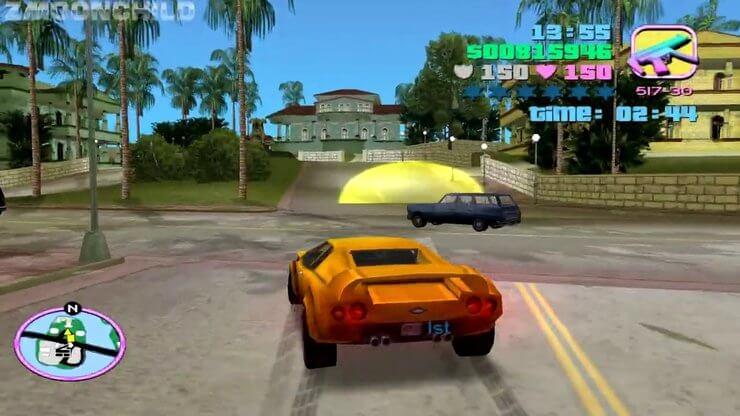 Endurance race in GTA Vice City
