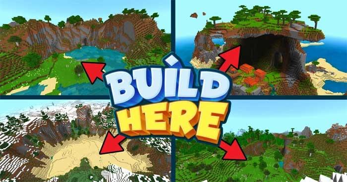 Mã seed Minecraft PE để xây dựng nhà