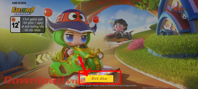 """<p><strong>Step 1:</strong> At the main interface of the game KartRider Rush+, press the <strong>Start button""""/></div> </li> <li> <div class="""