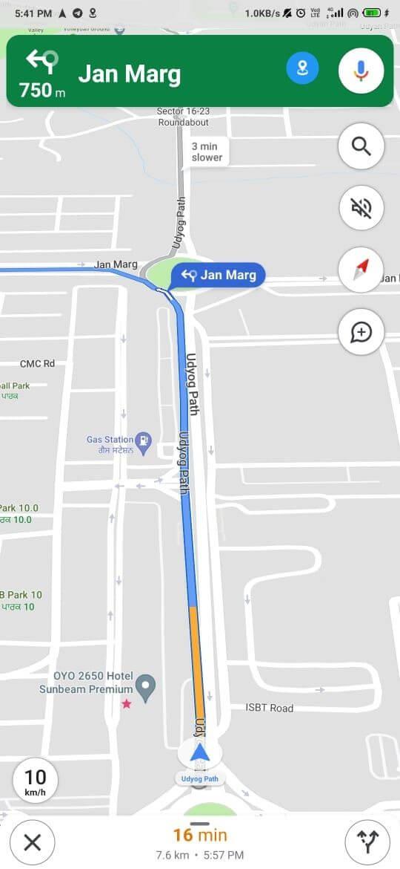 Đo tốc độ trên Google Maps