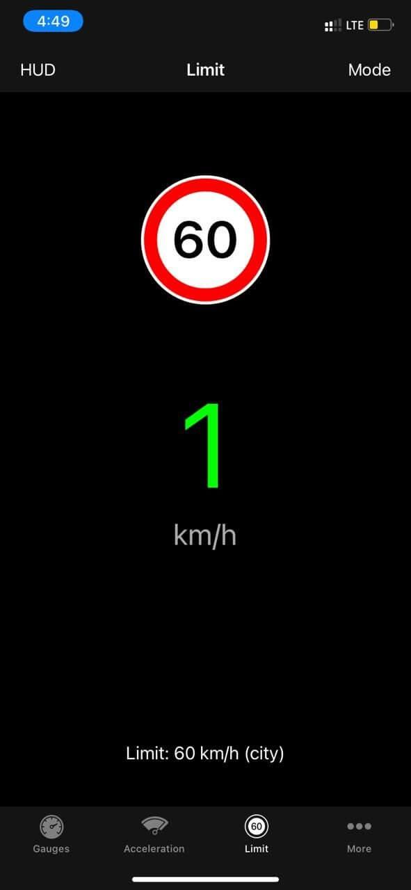 Speedometer Speed Limit