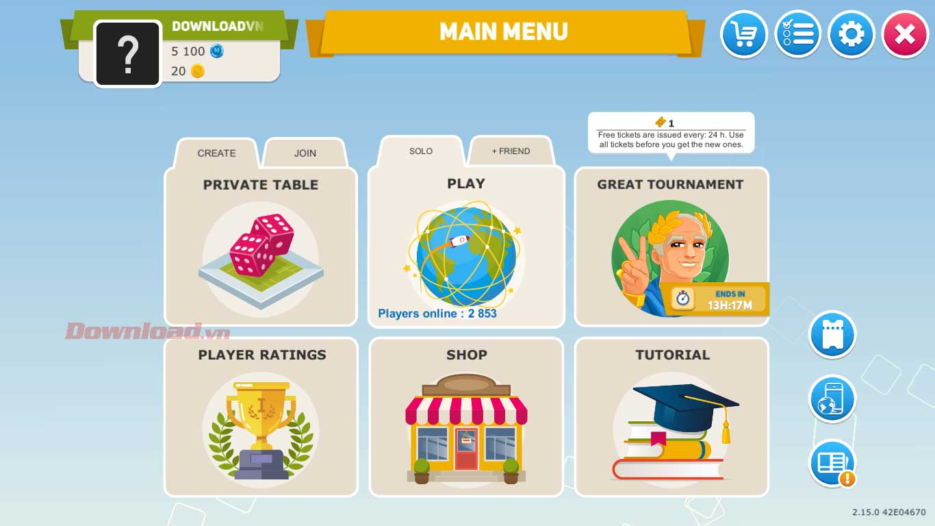 <p><strong>Bước 6</strong>: Vì là lần đầu chơi Business Tour, bạn nên làm quen với luật chơi trước.
