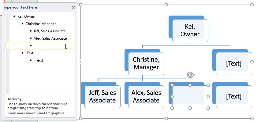 Thêm SmartArt trong PowerPoint