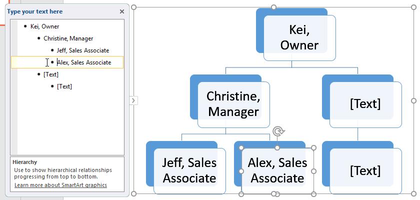 Tăng một cấp hình dạng trong PowerPoint