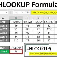 Cách dùng hàm HLOOKUP trong Excel