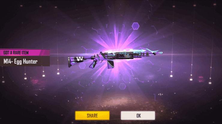Skin súng Free Fire M14 Egg Hunter