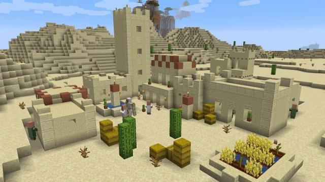 Seed các ngôi làng và Đền Sa mạc mang đến cho bạn khởi đầu tốt