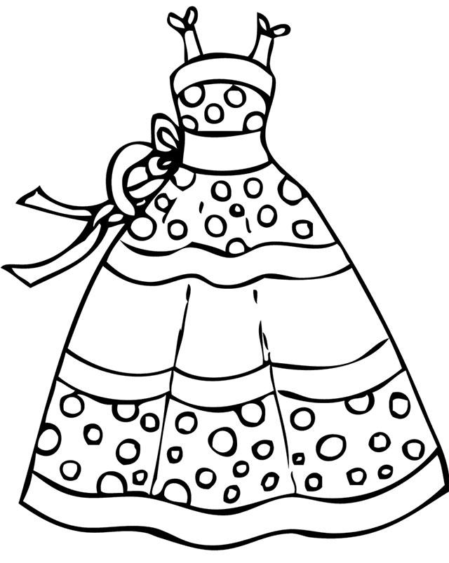 Tranh tô màu váy công chúa