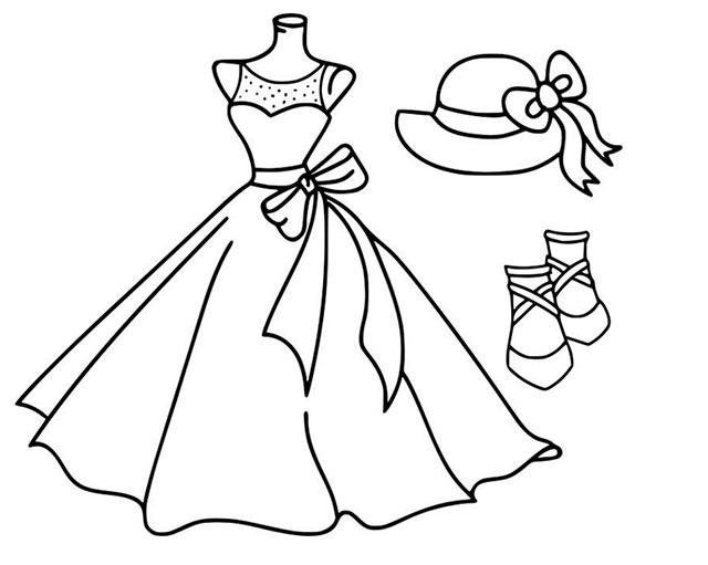 Tải Tranh tô màu váy công chúa