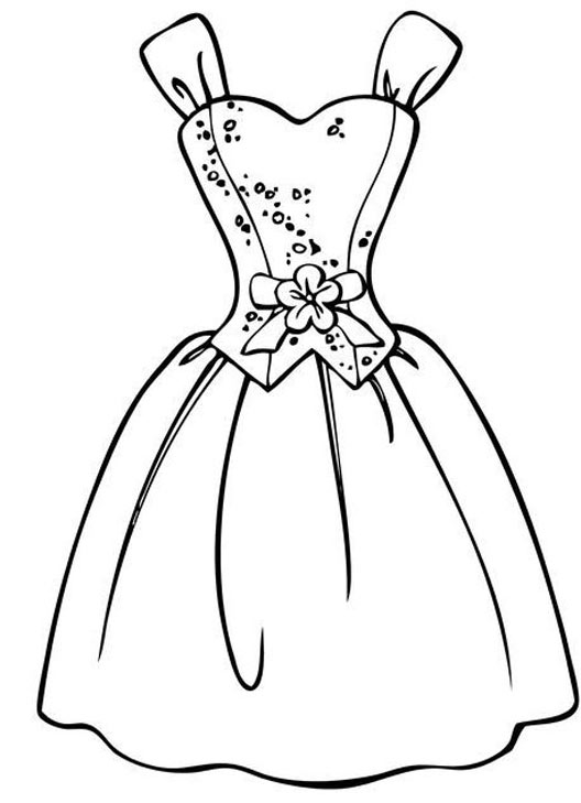 Download Tranh tô màu váy công chúa