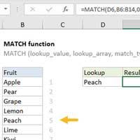 Cách dùng hàm Match trong Excel