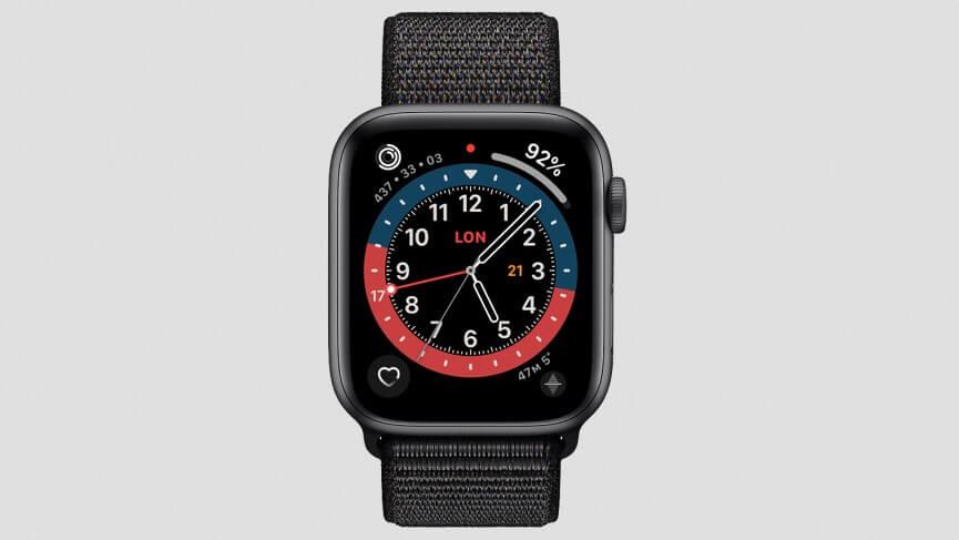 Thiết kế mặt đồng hồ Apple Watch đẹp GMT