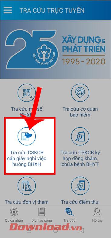 <p><strong>Bước 1:</strong> Cũng tại mục <em>Tra cứu trực tuyến</em> của ứng dụng VssID, hãy nhấn vào