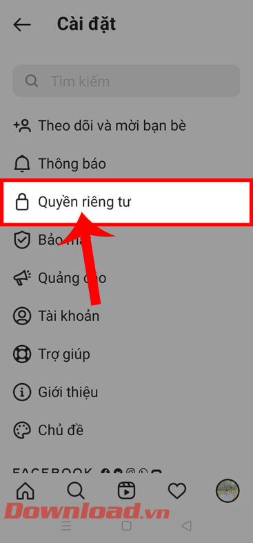 """<p><strong>Step 4:</strong> In the <em> Settings</em> section of Instagram, click <strong>Privacy.</strong></p> <p>""""/></p></div> </li> <li class="""