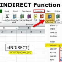 Cách dùng hàm INDIRECT trong Excel