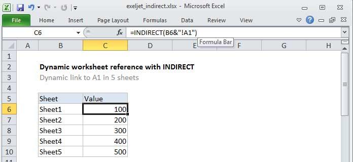 Cách dùng hàm Indirect trong Microsoft Excel