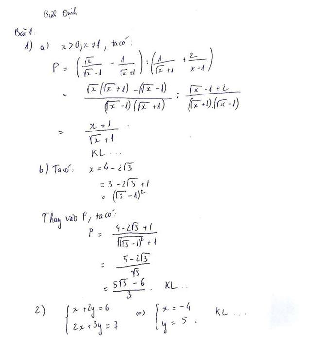 Bài 1