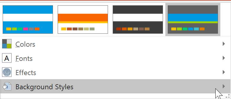 Kiểu background trong PowerPoint