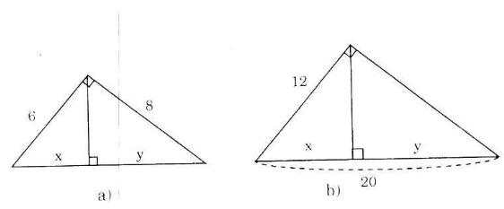 bai 1 trang 68 Giải Toán 9 Bài 1: Một số hệ thức về cạnh và đường cao trong tam giác vuông