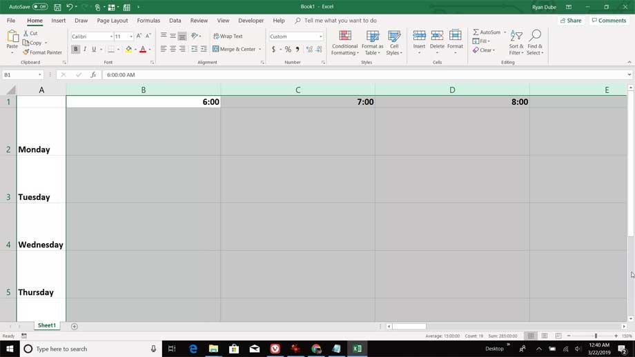 Điều chỉnh kích thước cột trong Excel