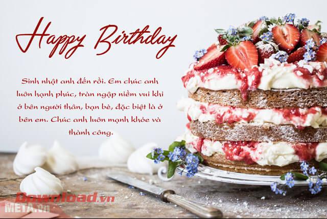 Chúc mừng sinh nhật bạn trai