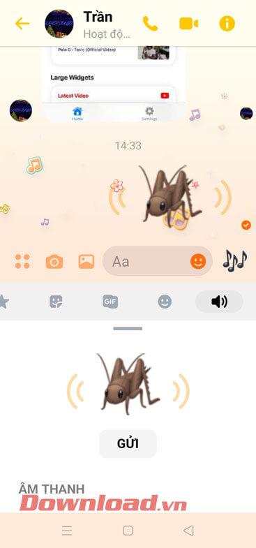 Đã gửi icon phát ra âm thanh