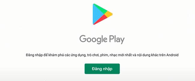 Đăng nhập tài khoản Google để cài đặt game