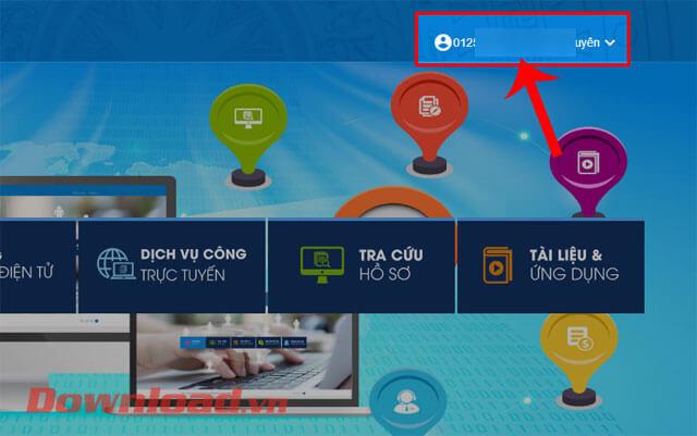 Nhấn vào tài khoản VssID của bạn