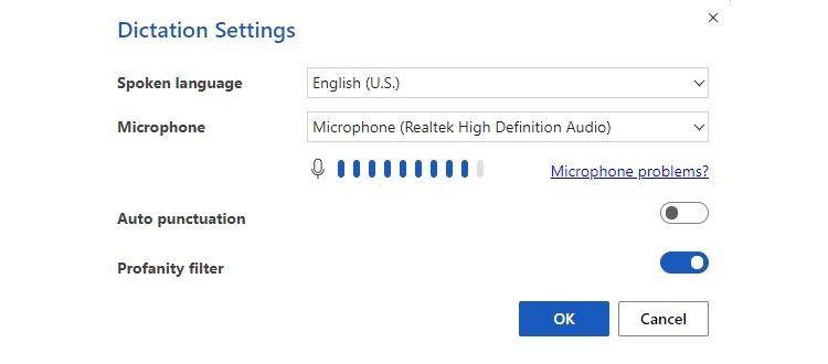 Cài đặt Dictation trên MS Word
