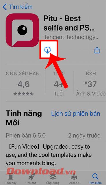 <p><strong>Bước 4: </strong>Trong phần cài đặt của ứng dụng này trên App Store, chạm vào <strong>biểu