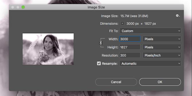 Chỉnh kích thước ảnh để in trên Photoshop