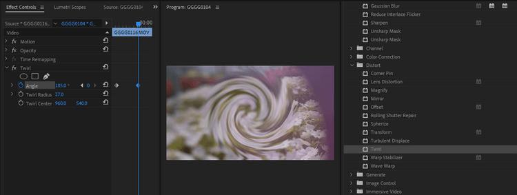 Kết hợp hiệu ứng trong Premiere Pro