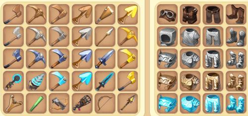 Một số vũ khí có thể phụ ma trong Mini World