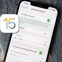 Hướng dẫn bật âm thanh trong nền trên iOS 15